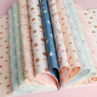 16pcs/pack one-side print (single-face print) anopistograph packing paper/DIY decorative cute animal design scrapbook paper цена