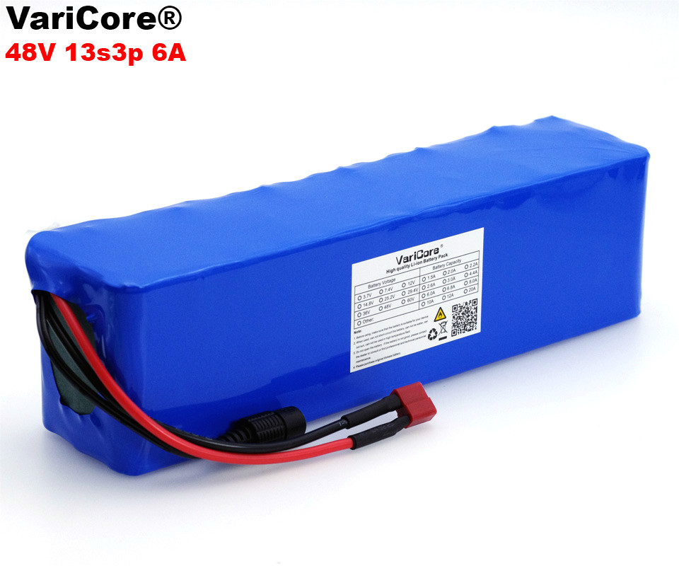 VariCore 48V 6ah 13s3p High Power 18650 Battery Electric Vehicle Electric Motorcycle DIY Battery 54.6v BMS Protection