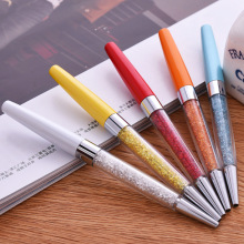 2017 new crystal pen, metal ball point advertising gift  brush screen pen