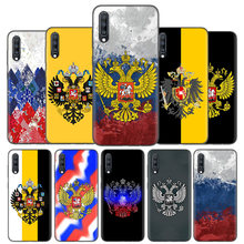 Tampa Da Caixa Do Silicone Para Samsung Galaxy A50 A80 A70 A40 A30 A20 A20e A10 A31 A51 A71 Nota 8 9 10 Plus 5G Brasão De Armas Da Bandeira Rússia