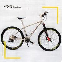 TiTo 142 12 rear axle titanium alloy MTB bike 26 27.5 wheelset M8000 suits 22or33 Speed Ultralight 10.97 KG titanium bicycle