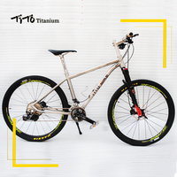 TiTo 142 12 rear axle titanium alloy MTB bike 26 27.5 wheelset M8000 suits 22or33 Speed Ultralight 10.97 KG titanium bicycle