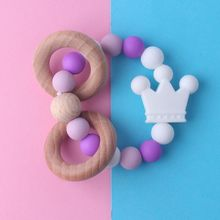 Baby Nursing Bracelets Wooden Teether Silicone Beads Teething Wood Rattles Toys Baby Teether Bracelets Nursing Toys Gift let s make 3pcs wood baby play gym can chew beech baby teething beads silicone shower gift bed toys child teether baby rattles