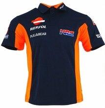 2018 Marc Marquez Camisa Pólo HRC Repsol Motocicleta Paddock Equipe 93 Racewear T-shirt
