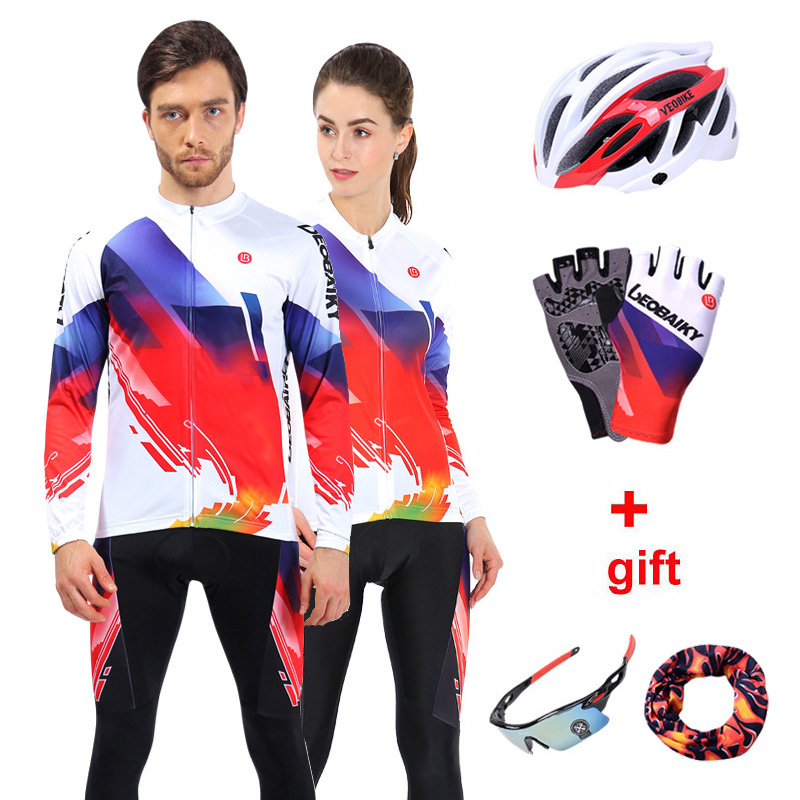 Pro Team 2018 Road Bike Clothing Men Bicycle Jersey MTB Cycling Set Long Sleeve Outdoor Sport