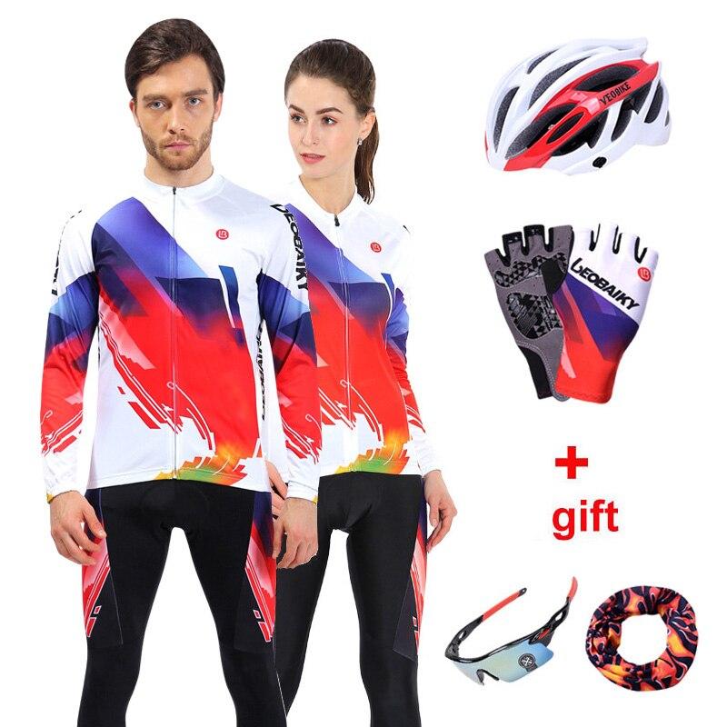 Pro Team 2018 vélo de route vêtements hommes vélo Jersey vtt cyclisme ensemble à manches longues Sport de plein air 3D rembourré femmes cyclisme vêtements
