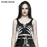 Punk rave Gothic Victorian Sexy Ghost Hand Printed Strapless Bra Women Tee Shirt T447 S L XXL free shipping