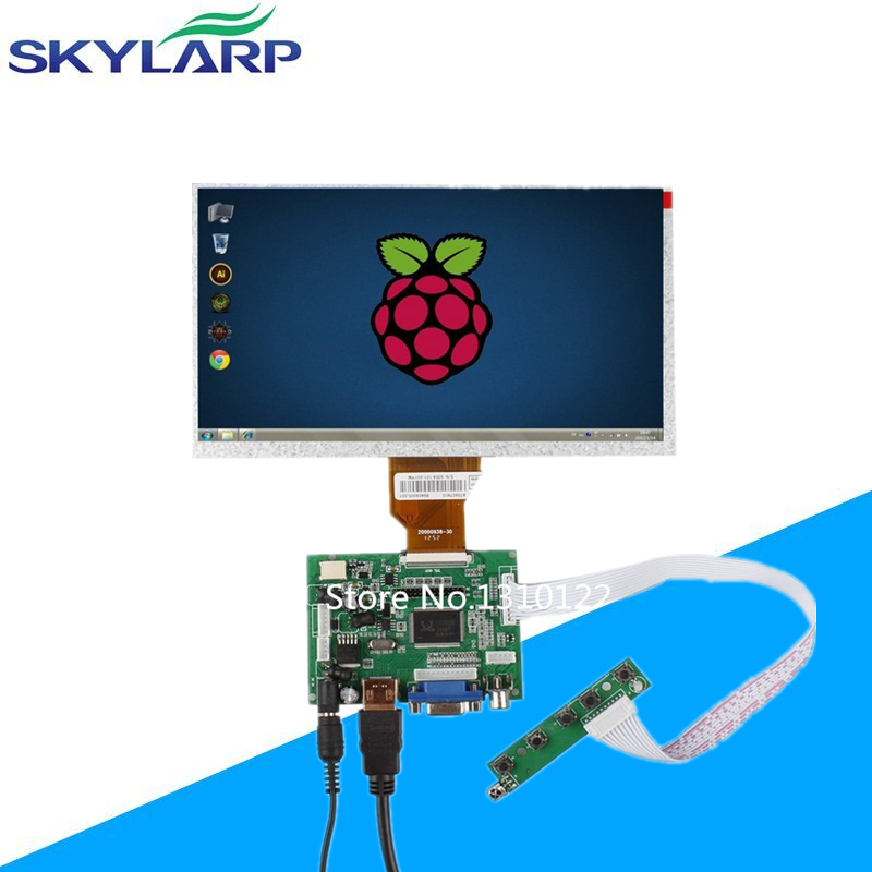 Skylarpu 9''Inch Raspberry Pi LCD Display Screen TFT Monitor AT090TN10 HDMI VGA Input Driver Board Controller Free shipping 5pcs lcd driver board built in vga signal cable 12 pin adapter female plug for tv monitor free shipping