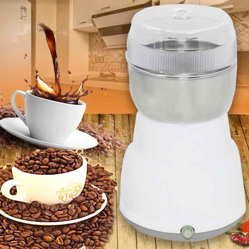 Multi-funcional de Aço Inoxidável Moedor de Café Elétrico Ervas Especiarias Nozes Grãos Máquina Moedor De Grãos de Café Para Casa de Viagem
