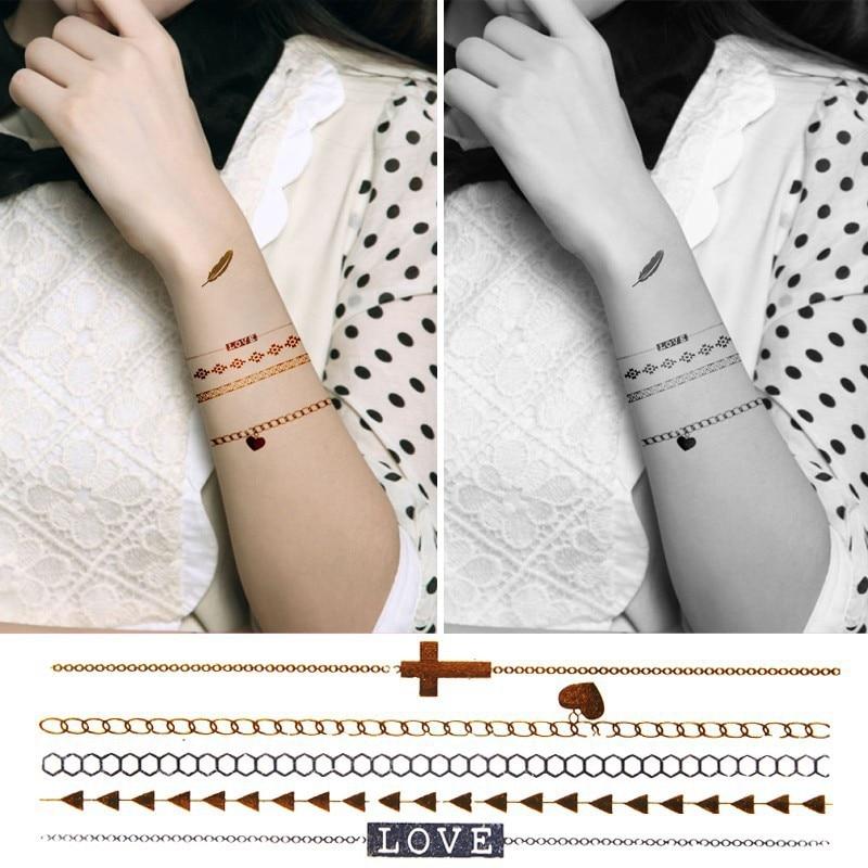 Sexy Korper Kunst Henna Feder Halskette Armband Tattoos Et Al