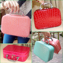 Lady PU cosmetic bag lady handbag fashion cosmetic box Korean cosmetic box women's storage bag