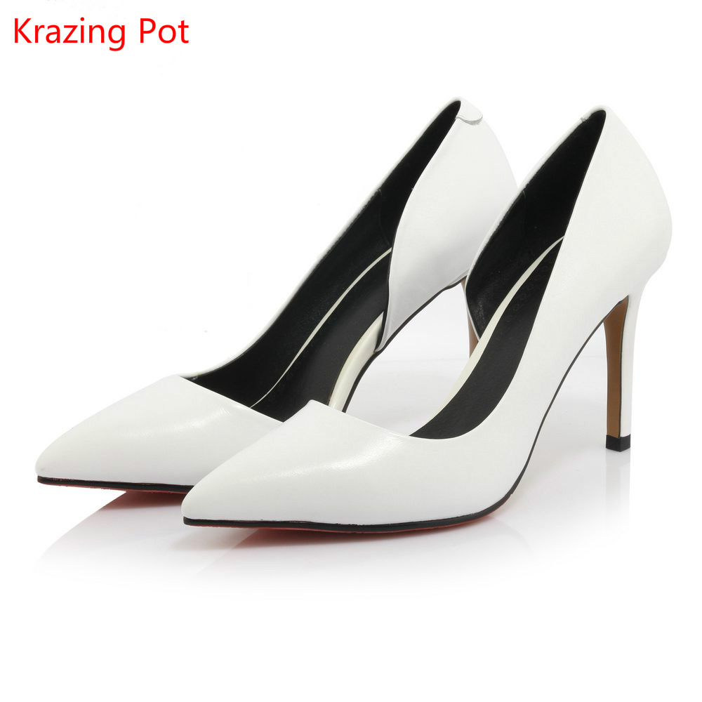 ФОТО Women Thin Super High Heel Brand Shoes White Black  Pointed Toe Women Pumps Solid Party High Quality Nude Office Lady Shoes 76