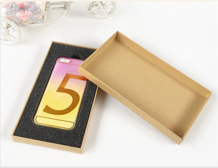 10pcs/lot-18*10*2cm 4.7 inches Brown Kraft Paper Boxes Heaven And Earth Cover Box Phone Gift Craft Soap Box Jewelry Storage Box