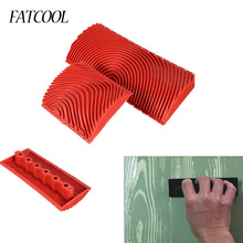 FATCOOL 2pcs Wood Graining Grain Rubber Patin Painting Effec