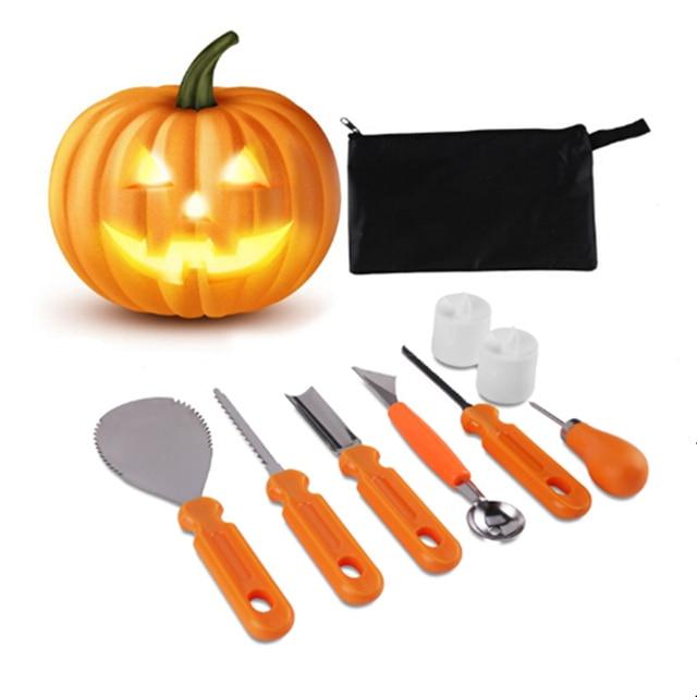 8 unids/set Halloween calabaza talla Kit de herramientas Set tallar ...