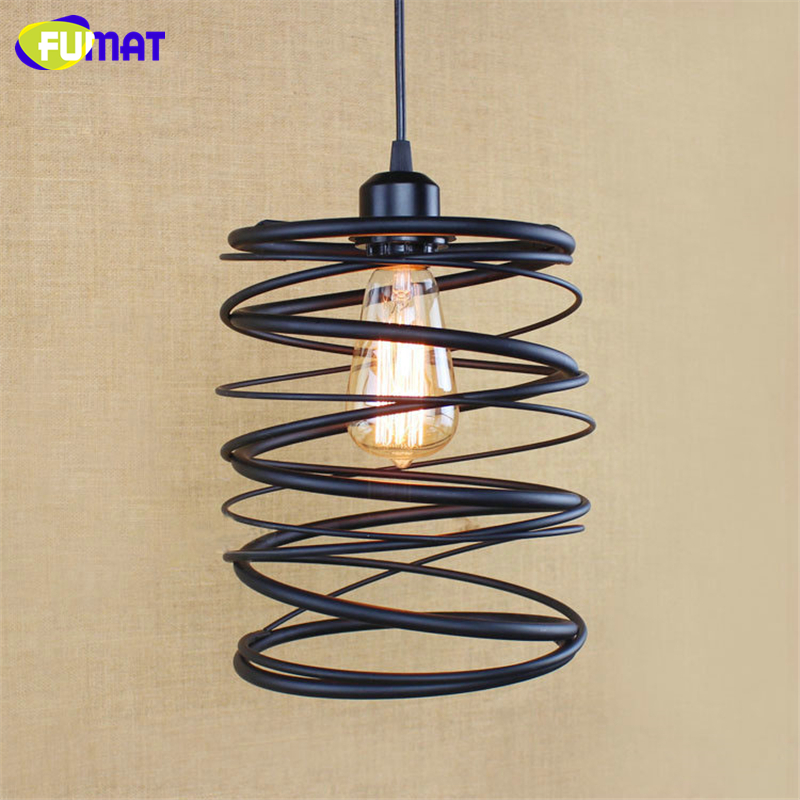 FUMAT Vintage Retro Indoor Metal Pendant lamp Loft Northern Europe American Country Black Iron Pendant Lights For Kitchen Lamps american art creative retro vintage pendant lights spring iron hanging pendant lamp indoor iron black pendant lamp light