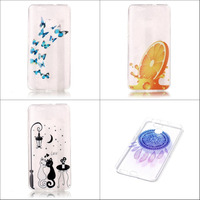 New Popular cute cartoon cat abstract painting soft tpu transparent back case cover for Huawei Nova with stylus pen