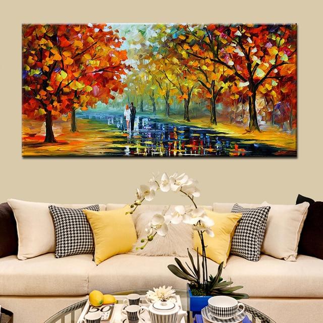 Favorito Dipinto a mano Acrilico Texture Impression Paesaggio Spatola  PZ78