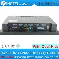 Cheap All In One Touch Screen D2550 Dual Lan 4 Usb Computer Pc