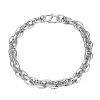 High Quality 999 Stamped Men sterling silver bracelet 925 pure silver chain genuine solid silver bracelet For Women Jewelry
