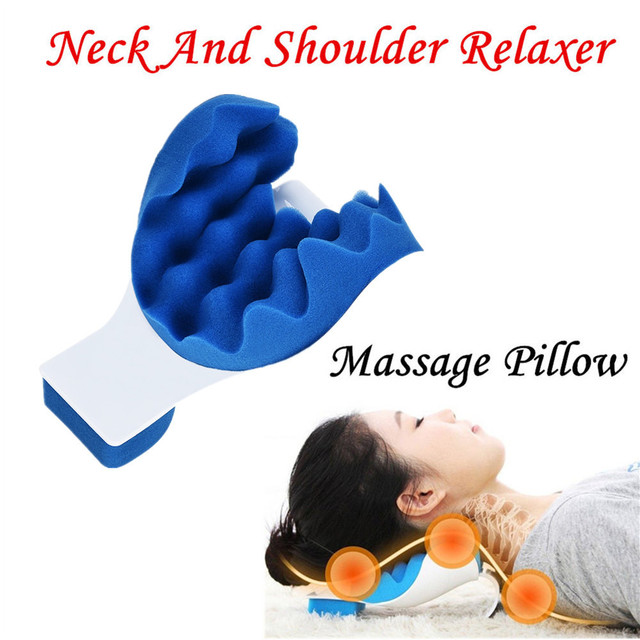 neck pain relief  Neck And Shoulder Relaxer Neck Pain Relief Massage Pillow Neck ...