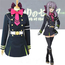 Takerlama Seraph of the End Shinoa Hiiragi военная форма Косплей Костюм Платье анимационная одежда с полным комплектом