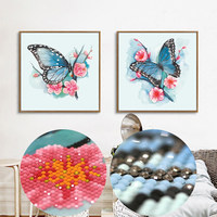 Special Shaped Diamond Painting Animal Butterfly Rhinestones Cross Stitch 5D DIY Diamond Embroidery Wall Sticker For