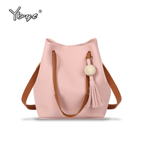 YBYT Brand 2016 New Small Joker Leisure Tassel Solid Bucket Package Hotsale Women Shopping Handbags Lady