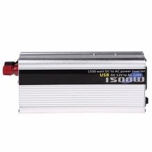 1 шт. 1500 Вт Мощность Инвертор автомобильный USB DC 12 В к AC 220 В Мощность Инвертор адаптер конвертер с 5 В USB телефон Зарядное устройство в автомобиле * E