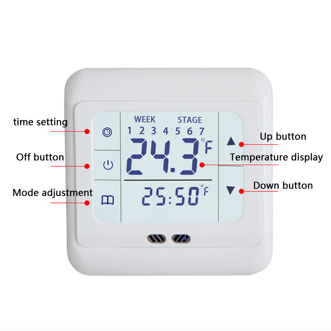 Household LCD Display Touch Screen Room Thermostat Thermoregulator 220V Floor Heating System Temperature Controller range 40 99 degree 220v touch digital lcd temperature controller with touch button cooling heating switch thermostat