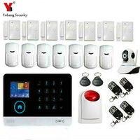 YobangSecurity Wifi 3G WCDMA/CDMA Kablosuz GSM GPRS SMS Hırsız Hırsız Alarm Ev güvenlik Alarm sistemi Kablosuz Siren