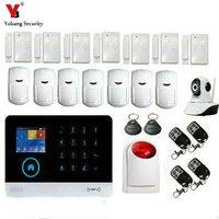 Yobangsecurity Wi Fi 3G WCDMA/cdma Беспроводной GSM GPRS SMS охранной сигнализации дома Охранной Сигнализации Системы Беспроводной Siren