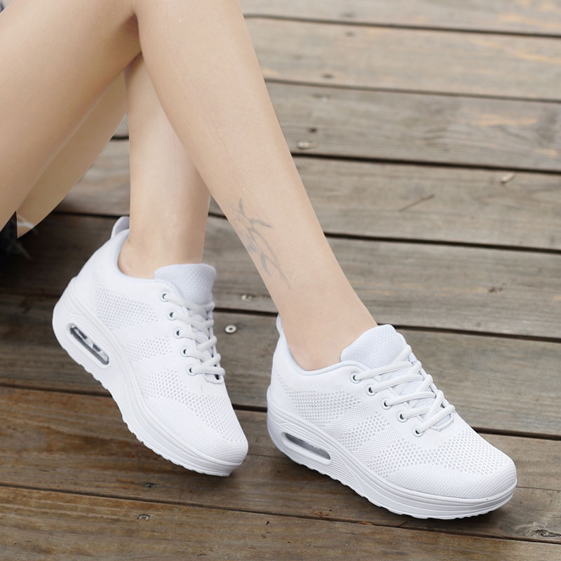 MWY Women Casual Platform Shoes Fashion High Heels Shoes Woman Wedges Women White Sneakers Shoes Heigh Increasing Zapatos Mujer