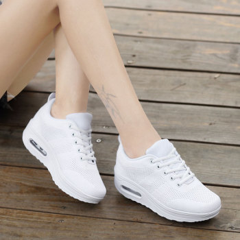 MWY Women Casual Platform Shoes Fashion High Heels Shoes Woman Wedges Women White Sneakers Shoes Heigh Increasing zapatos mujer de la chance 2018 women wedges sneakers shoes women high heels casual shoes female height increasing platform women canvas shoes