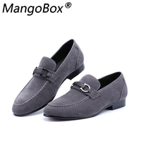 Autumn Suede Leather Mens Loafers Luxury Brand Top Men's Casual Shoes Slip on Boat Shoes for Men Moccasins Chaussure Homme 37 43