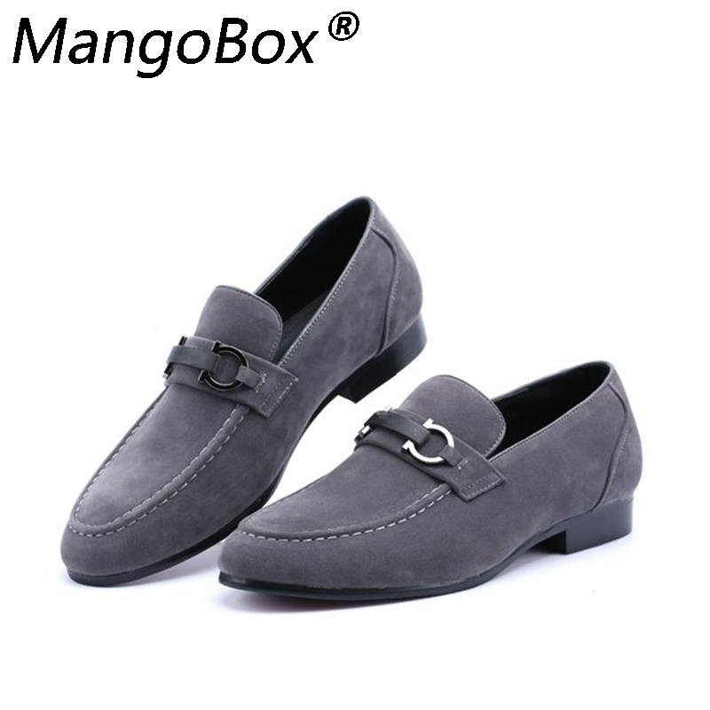 Autumn   Suede     Leather   Mens Loafers Luxury Brand Top Men's Casual Shoes Slip on Boat Shoes for Men Moccasins Chaussure Homme 37-43