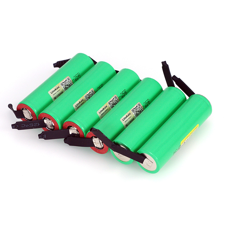 Image 4 - LiitoKala New Original 3.7V 18650 2500mAh battery INR1865025R 3.6V discharge 20A dedicated batteries + DIY Nickel sheet-in Replacement Batteries from Consumer Electronics