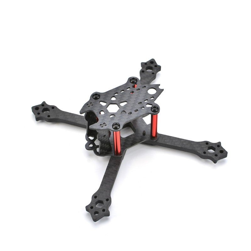 130XT 130mm FPV Racing Drone Frame Kit 4mm Carbon Fiber Arm for RC Racer Quadcopter Multirotor DIY Body Shell Cover Spare Parts minibigger racer 255mm 275mm carbon fiber 4mm arm rc drone fpv racing frame kit with wrench tools for diy multirotor parts