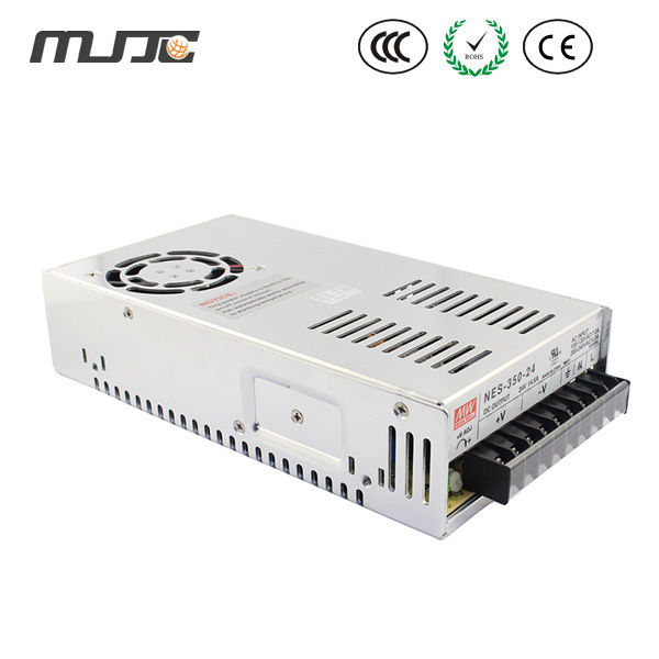 MJJC 12V 29A led Swicthing Power Supply 350w Power Switch with 110V/220V input cooling fan for led lights/camera power