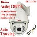 Segurança CCTV Zoom Óptico de 20X HD 1200TVL câmera De Monitoramento Automático de PTZ de Alta Velocidade Dome Câmera impermeável Visão Nocturna do IR 150 M DST212-701
