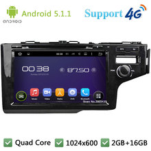 Quad Core 9″ HD 1024*600 Android 5.1.1 Car DVD Player Radio USB FM DAB+ 3G/4G WIFI GPS Map For Honda FIT Right Hand Driving 2014