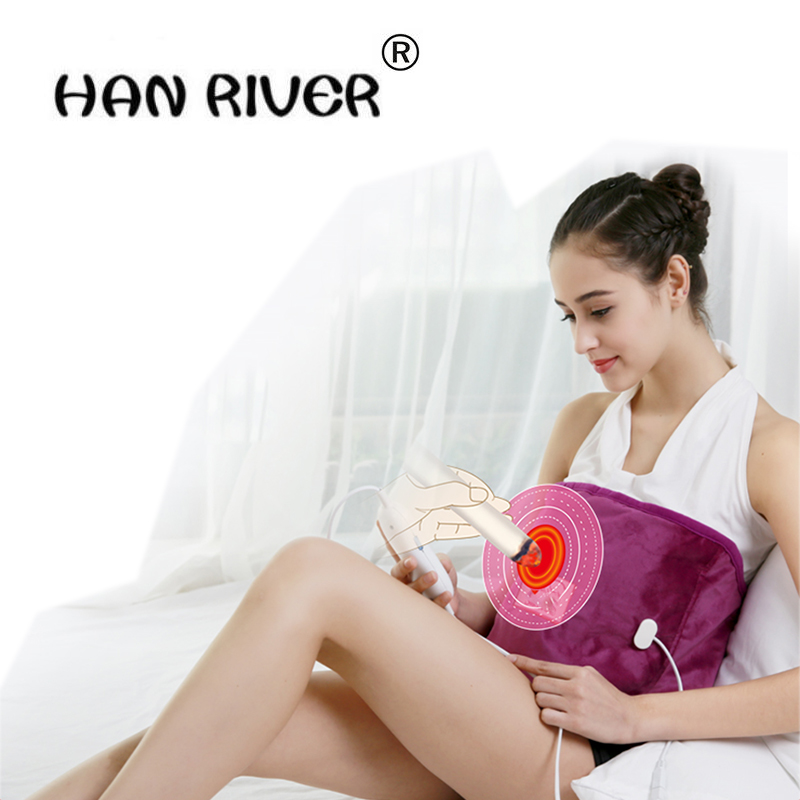 High Quality Electric Heating Moxa natural sea salt therapy bags Back Neck Thermal Physical Therapy Warm Pain Relief Health Care physical pain therapy system shock wave machine for pain relief reliever new 2000 000 shots