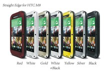 LOVE MEI Extreme Powerful Waterproof Dropproof Metal Case for HTC New One M8 with Gorilla Tempered