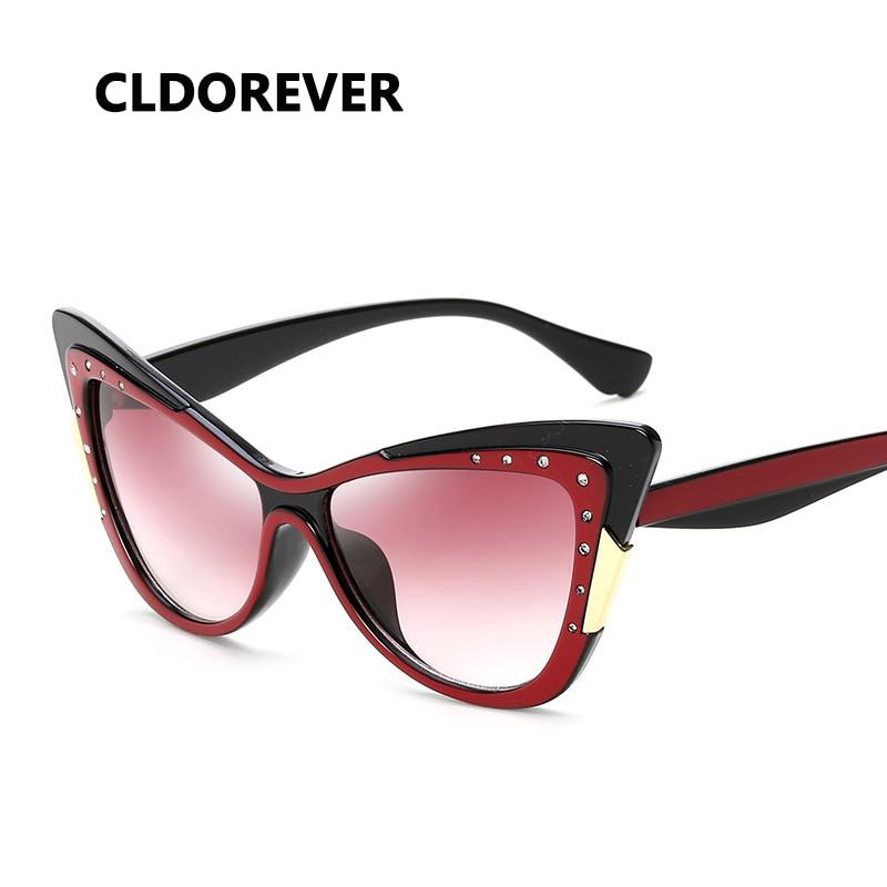 Retro Vintage Fashion Rhinestones Womens Cat Eye: Fashion 2018 Retro Cat Eye Sunglasses Women Luxury Brand