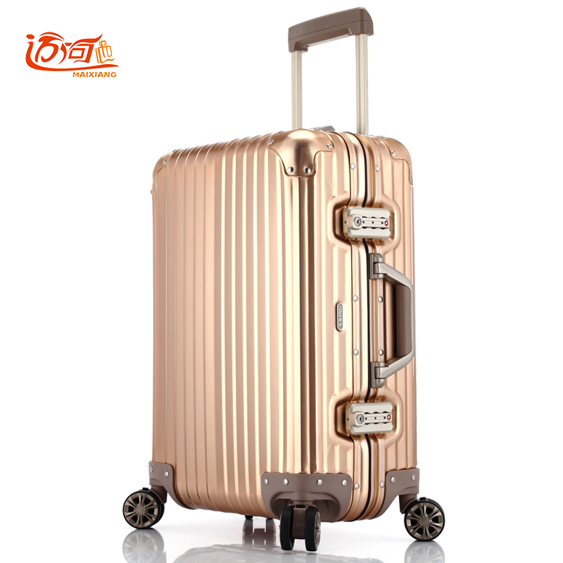 цена на 100% fully Aluminum-magnesium alloy aluminum koffer suitcase for girls 20/25 inch aluminium luggage water proof carry on luggage