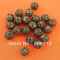 Free shipping!!!!! wholesale 1000pcs 8mm ANTIQUE BRONZE FILIGREE BEADS/End Spacer Beads 4mm