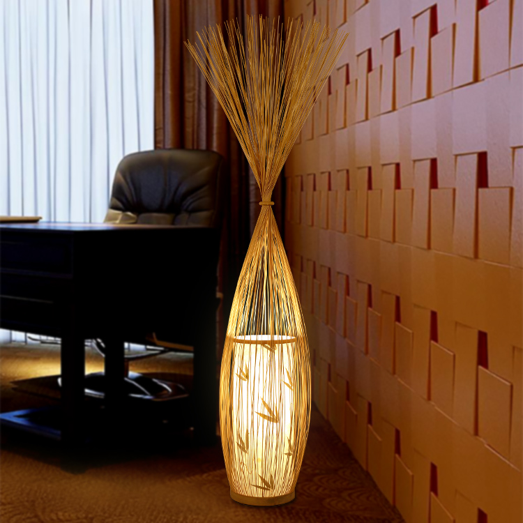 Chinese style creative Japanese floor lamp modern simple bamboo living room bedroom club light standard lamp ZL253 LU717101 new arrival modern chinese style bamboo wool lamps rustic bamboo pendant light 3015 free shipping