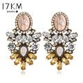 17KM Vintage New Hot Big Crystal Flower  Drop Earring for Women 2016 Statement Fashion Rhinestones Earrings Best Friends Gift