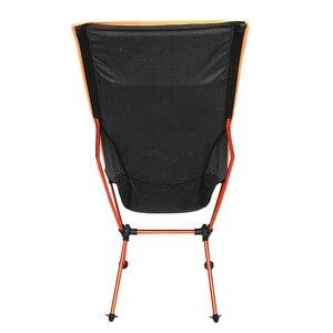 Image 4 - 11.11 עסקות נייד חיצוני מתקפל קמפינג כיסא תמיכה 360lbs גבוהה רשת חזרה עם לשאת תיק