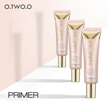 O.TWO.O Face Smooth Primer Make Up Pores Invisible Brighten Dull Skin Color Whitening Cream Wrinkle Cover Makeup Base Balm Cream